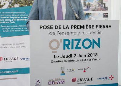 Michel BOURNAT, Maire de Gif sur Yvette, Président de la CPS et Vice-président CG 91